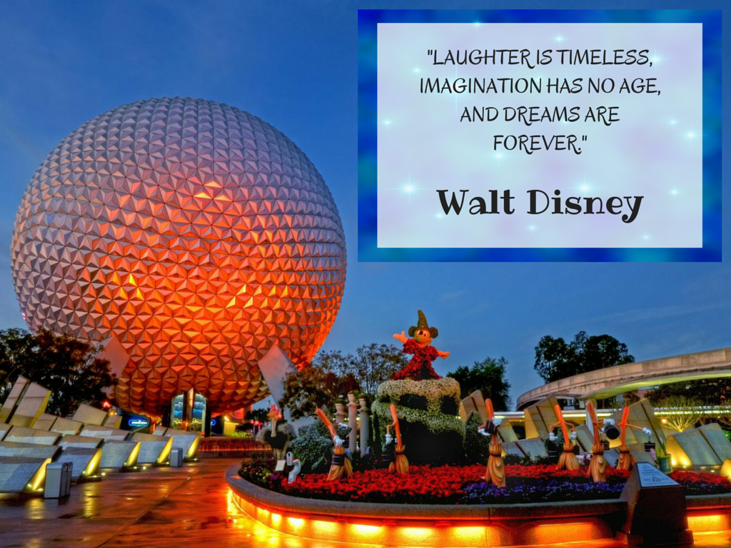 EPCOT Disney Quote Laughter is Timeless